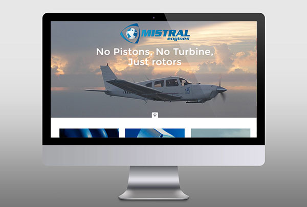 Webdesign Mistral Engines